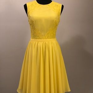 Ted Baker London Just For You Yellow Lace Dress